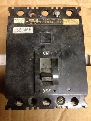 Square D 3-Pole, 30 Amp, 480V Circuit Breaker