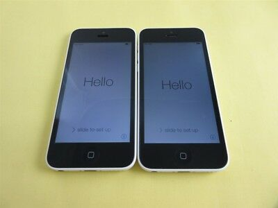 Lot 2 Good iPhone 5C White 16GB Factory Unlocked for AT&T, T-Mobile..Oversea