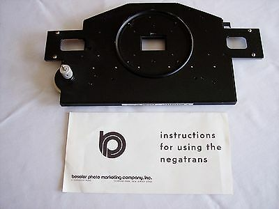 Beseler 8078 Negatrans Carrier for 23C Series Enlargers 35mm Nice w/Instructions