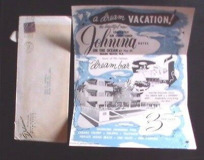 Johning Hotel Miami Beach 1951 Brochure, Contract and Rate Sheet...KOOOL !@