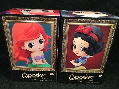 USA SELLER Banpresto QPosket Disney The Little Mermaid Ariel Snow White Figures