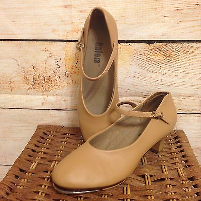 Balera Capezio Womens Tap Dance Chorus Line Character Shoes Size 10 M Tan Pumps