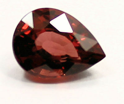 2.20ct EXTREME PEAR RASPBERRY RED RHODOLITE GARNET