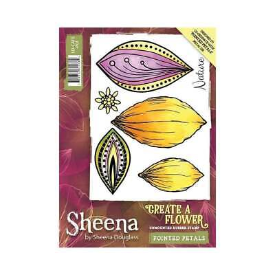 Sheena Pointed Petals Create a Flower A6 Unmounted Rubber Stamp SD-CAFS-POI