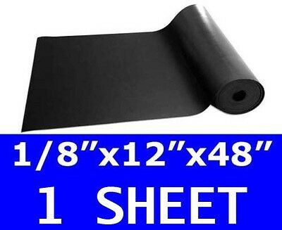 "1/8"" thick Neoprene Rubber Sheet 12"" x 48"" Long 60 durometer Black FREE SHIPPING"