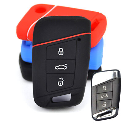 Fit For Vw Passat b8 Skoda a7 Silicone Remote Flip Key Cover Case Fob Shell Skin