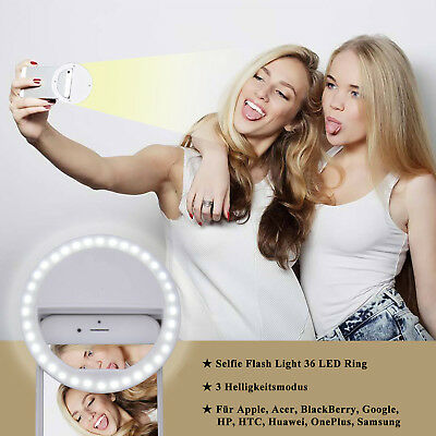 Selfie LED Licht 36 LED Ring Fill Blitz Light Kamera Fotografie Für Handy iphone