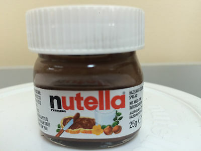 Mini Nutella jar 25gr 64 piece RETAIL PACK Made in Italy Novelty Nutellino