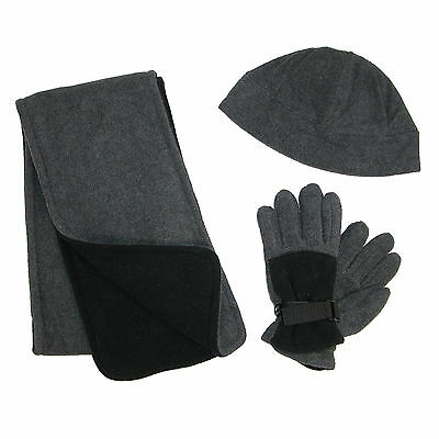 New CTM Kids' 4-7 Fleece Hat Scarf and Gloves Set