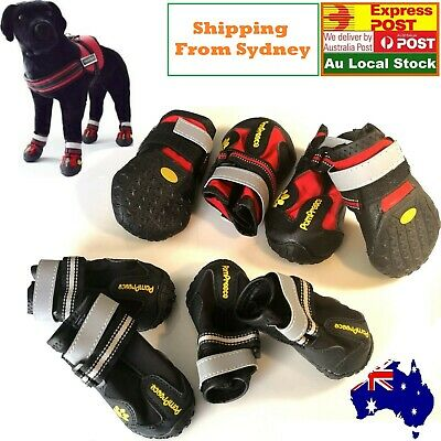 Non-slip dog shoes cat shoes PomPreece Waterproof Anti-Slip Paw Protector 4 PCS
