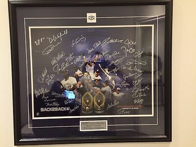 1992/93 Toronto Blue Jays Framed Team Signed Artist Proof 4 of 5 Frozen Pond COA