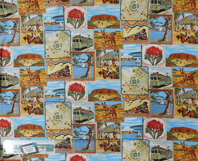 Quilting Patchwork Sewing Fabric AUSTRALIAN GOLD 1 Cotton Material 50x55cmFQ NEW