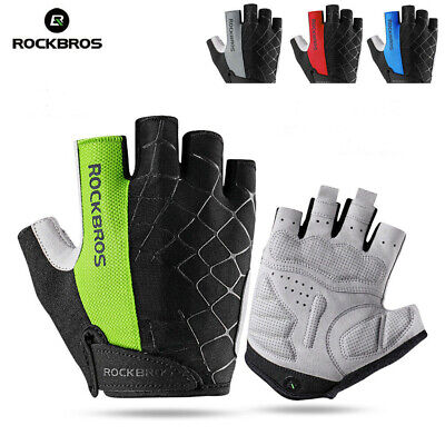 Genuine ROCKBROS Cycling Gel Half Finger Gloves Anti Skid MTB Bike Gloves