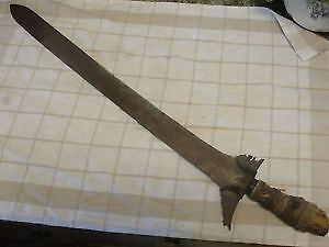 KRIS SWORD vintage antique Philippines malay moro keris weapon old metal carved