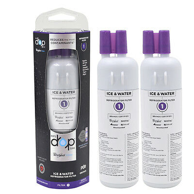 Whirlpool EveryDrop 1 EDR1RXD1 W10295370A Ice & Water Fridge Water Filter 2-Pack