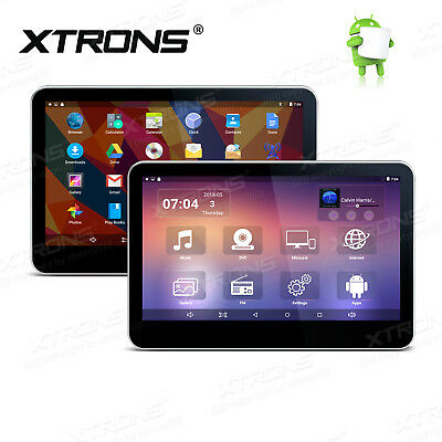 """2X Car Headrest DVD Player 4-Core Android 10.1"""" Touch UI Monitor Bluetooth WiFi"""