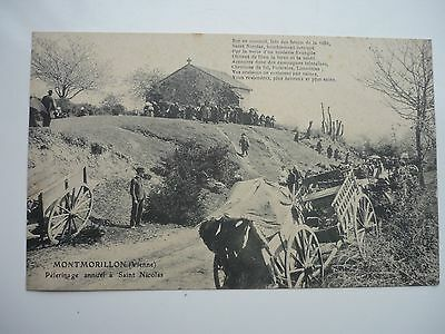 Cpa 86 : Montmorillon  Pelerinage Saint Nicolas  / Vienne / Ancienne Carte