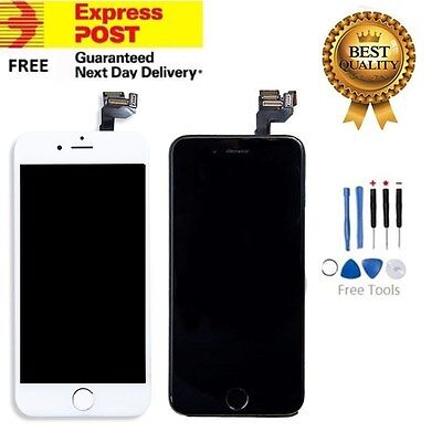 "iPhone 6S 4.7"" Replacement Digitizer LCD Touch Screen & Home Button & Camera B&W"