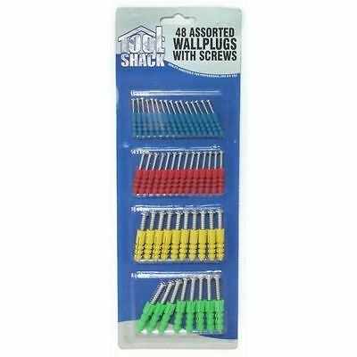 48pc Tool Shack Wallplugs and Screws Rawl Home Repair Assorted Fixing Tool Kit