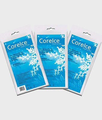 3 Pack of Instant Ice Packs Cold Therapy Sports Injury CORE ICE First Aid STRONG