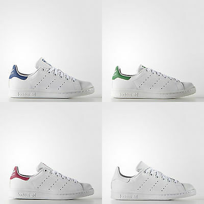 Adidas Stan Smith Originals J Women Junior Bambino Donna Verde Rosa Royal Blu