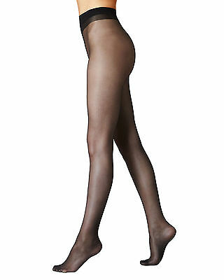 29602e1a4da Womens Ultra Sheer Tights Natural Cooling 10 Denier Pantyhose Black -Nude  -T IL