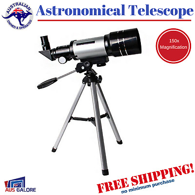 New Astronomical Telescope Star Gazing Night Sky Planet 150x Magnification 70mm