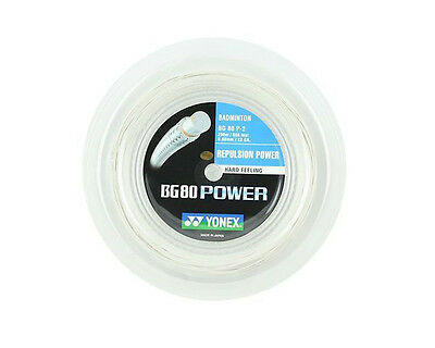 Genuine Yonex BG80 Power Badminton String BG 80 - 200m Reel - White