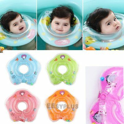 UK 1-18 Months Baby Swimming Neck Float Inflatable Ring Adjustable Safety Aids