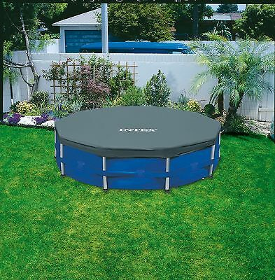 Intex steel framed pool cover 10ft 12ft round swimming - Intex 10ft pool ...