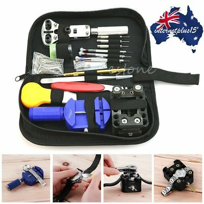 144Pcs Watch Repair Kit Case Opener Pins Link Remover Spring Bar Tool Set Lot RW