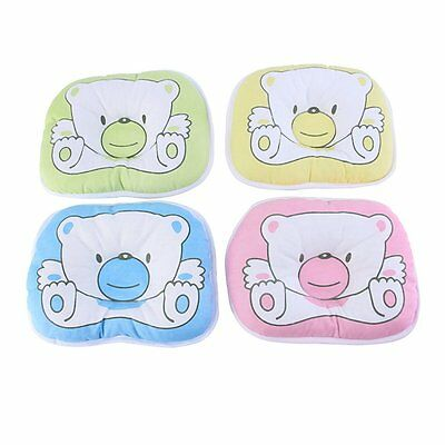 Bear Pattern Pillow Newborn Infant Baby Support Cushion Pad Prevent Flat Head RW