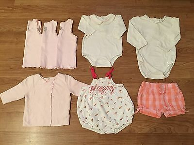 BULK LOT Layette Baby Girls Clothes PureBaby H&M Sprout Chaps Size 0-12 Months
