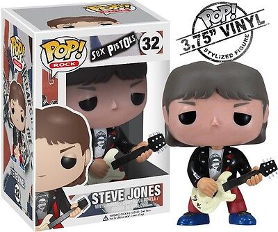 "Sex Pistols: 2012 Funko Pop! Rocks Steve Jones 3.75"" Vinyl Figure #32 (C6)"