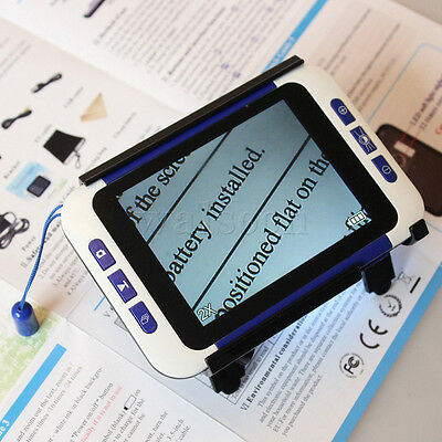 "3.5""LCD Screen Portable Electronic Video Magnifier Low Vision Reading Aid 2x-32x"
