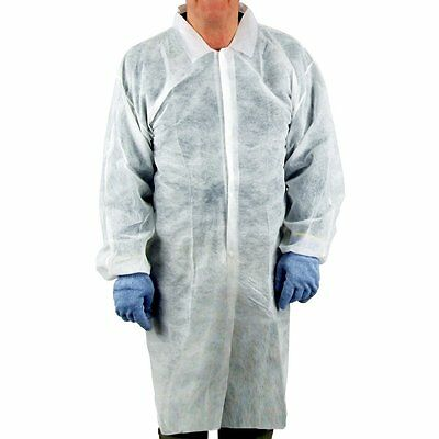 UltraSource Disposable Poly Lab Coats, Medium Pack of 30