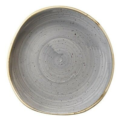 12X Churchill Stonecast Round Plate Peppercorn Grey 186mm Commercial Restaurant