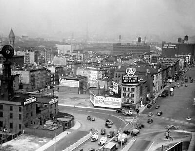 """1939 Aerial View, Jersey City, New Jersey Vintage Photograph 8.5"""" x 11"""" Reprint"""