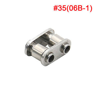 #35 Stainless Hollow Chain Connecting Link Full Link For #35 06B-1 Chain x 1Pcs