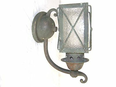 Antique Copper Glass Outside Outdoor Carriage Style Wall Sconce Lamp Light