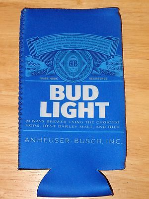Bud Light Beer Koozie - Fits 24 - 25 oz. Extra Ounce Cans NEW