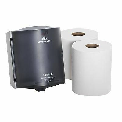 Georgia-Pacific SofPull 58205 Translucent Smoke Paper Towel Dispenser Trial Kit