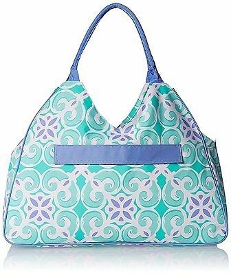 "Water Resistant Beach Bag with Inside Lining and Top Handle - 22"" Long Sea Tile"