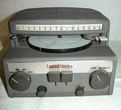 Vintage SOUND SCRIBER Model 56R 1950's Reto Electronics!