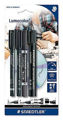 Staedtler Lumocolor Rotulador Permanente Set 60 BK Puntas - Set of 4