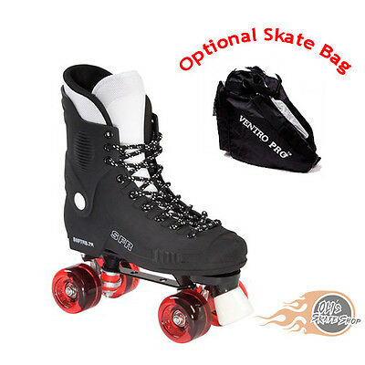 SFR Raptor 76 Quad Roller Skates Red - Optional Skate Bag
