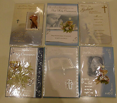 Brother Grandson Godson Nephew Son  First Holy Communion Card  Greetings Cards