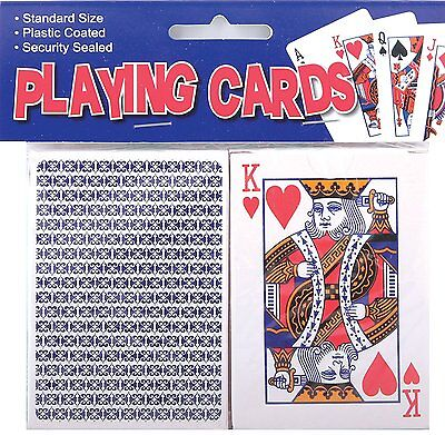 Tallon Games Plastic Coated Playing Cards - 1 Pack or 2 - Standard Size Cards