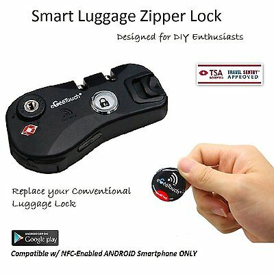eGeeTouch NFC Smart Luggage Zipper Lock, Instantly Transform to Smart Luggage