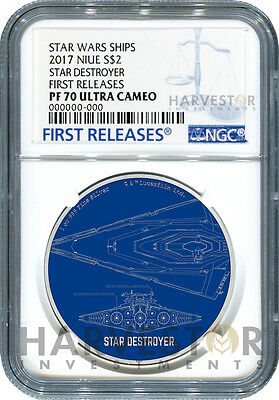 2017 Star Wars Ships: Star Destroyer - Ngc Pf70 First Releases W/ogp